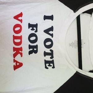 torrid Tops - 2/$20 I vote for vodka 3/4 sleeve top blouse